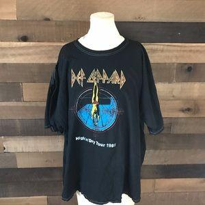 Def leopard high n dry concert shirt size 1x